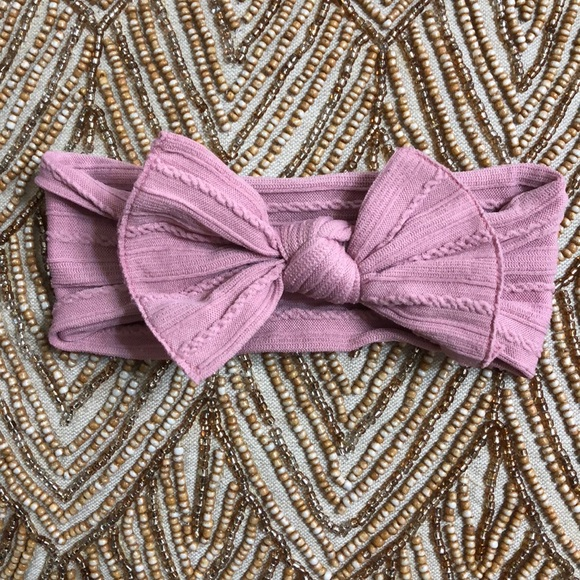 Baby Bling Other - Pink Mauve Cable Knit Baby Bling Headband 818314e00d6